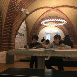 Kids coloring space at Rijksmuseum in Amsterdam