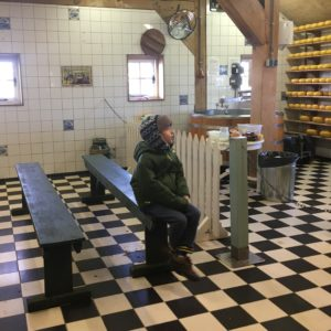 Learning how cheese is made in Zaanse Schans with kids