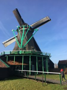Running into a windmill at Zaans Schans