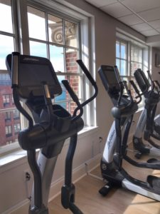 Exercise room at the Downtown Hotel Syracuse