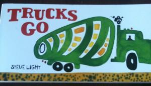 trucks go book for kids