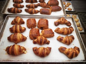 Making croissants at the Pantry baking class in Seattle