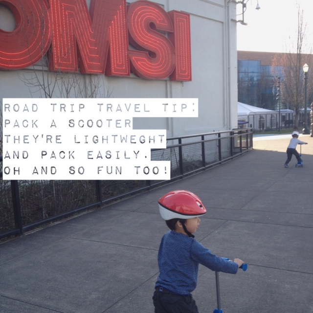 Omsi with kids in Portland