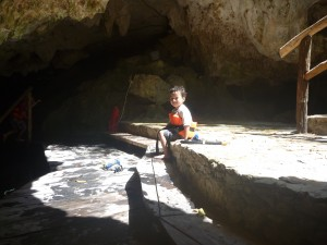 visiting a cenote with kids in cancun