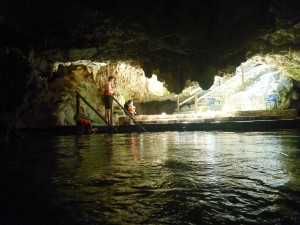 swimming in a cenote with kids in cancun