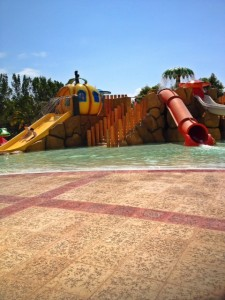 Waterpark for young kids in the Mayan Riviera