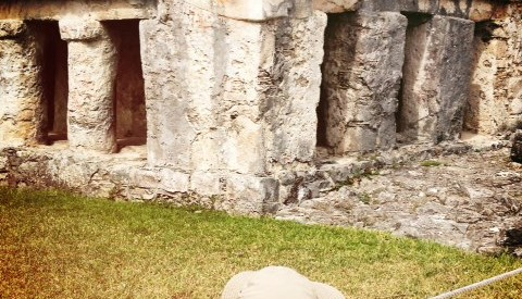 visiting the mayan ruins in Tulum with kids