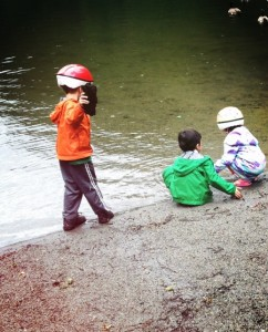 Camping with kids at Alice Lake in Canada