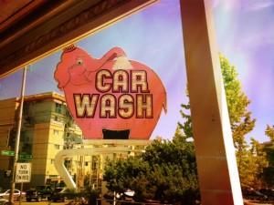 iconic elephant car wash sign