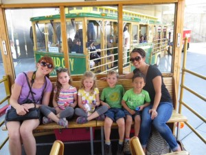 Emerald City Trolley with kids