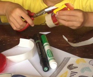 Making a soccer craft with preschoolers