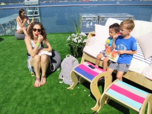Eating popsicles at the Seawheeze in Vancouver