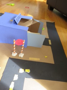 Make an airport for planes with kids