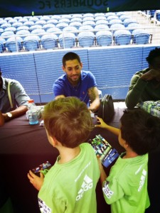 Meeting Clint Dempsey with Seattle Sounders Camp