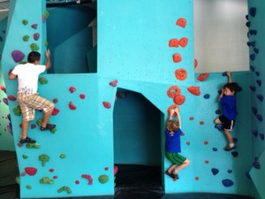 Climbing wall if you go to Bouldering project