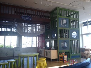 Playspace at Lawson drugstore in Yokohama near the Hikawamaru