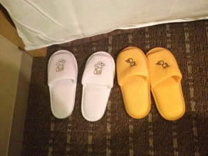 Some hotels have slippers for kids in Japan