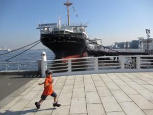 Hikawamaru with kids in Yokohama