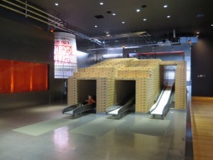 Japan with kids: cool slide at Cup Noodles Museum Yokohama