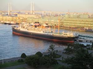 Hikawamaru ship in Yokohama