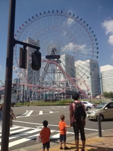 yokohama Ferris wheel at Cosmoworld