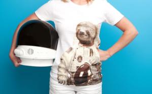 sloth astronaut tshirt