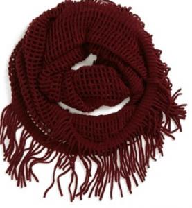 oxblood scarf