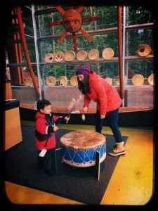 interactive area at lil'wat Cultural Cetnre for children