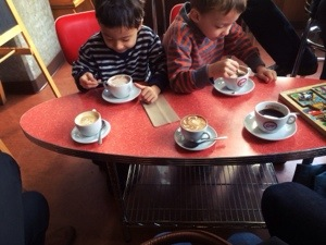kids area in caffe vivace a seattle coffee shop