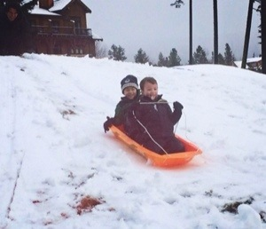 snow at suncadia where we sled with kids