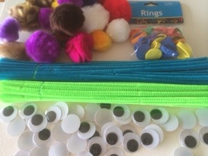 materials for love bug craft