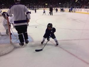 seattle thunderbirds hockey with kids