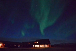 northern lights in iceland at the Hotel Ranga where we stayed with our family and two 5 year olds