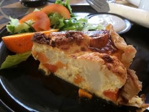 yummy quiche dish in Iceland at Eldsto Art Cafe