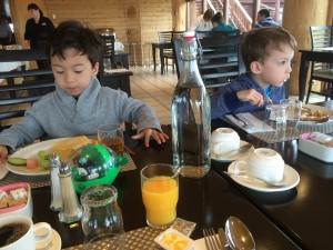 breakfast at the hotel ranga with kids