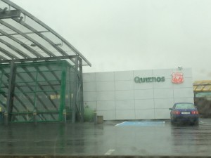 gas station with a restaurant in iceland