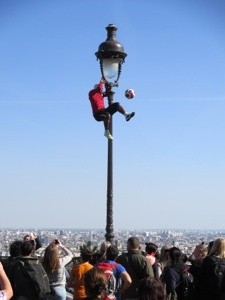 This guy was phenomenal! We loved watching the performers near Sacre Coeur