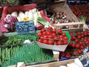 beautiful vegetables at the market