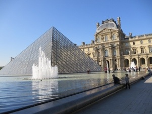 Thankfully no one fell in the fountain at the L'ouvre