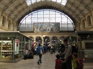 Inside the Gare D'est or East Station