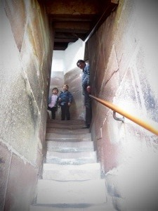 can kids climb the stairs to the top of the strasbourg cathedral at eastertime