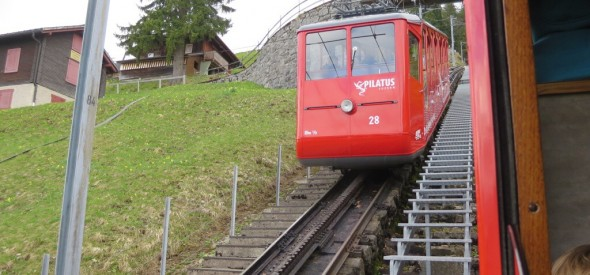 riding the cogwheel train and funicular in mount pilatus with kids was a switzerland treat