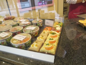 open-faced sandwiches and pastries in lucerne