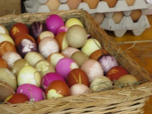 easter eggs in lucernce are festive