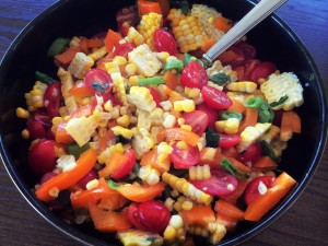 corn salad that is perfect for summer