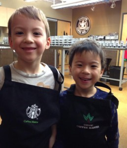 mini starbucks baristas