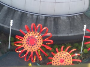 top of solar flowers from the space needle