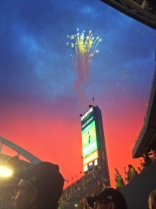 Fireworks at Seattle Sounders