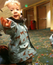 toddler at Seattle Children's Theatre