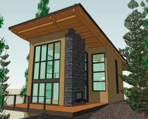building a cabin in the woods